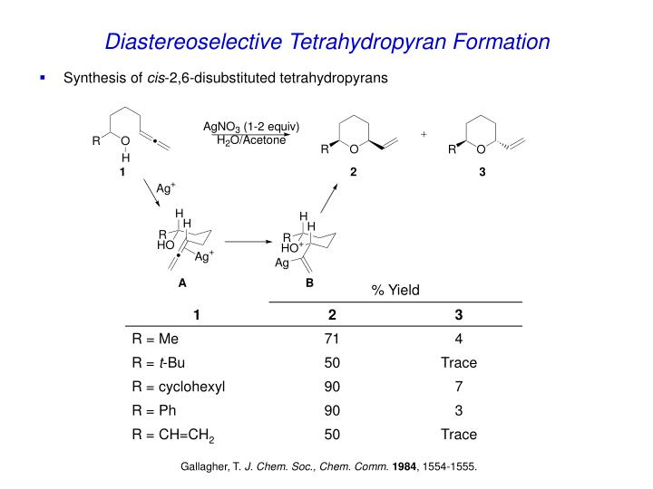 Diastereoselective Tetrahydropyran Formation