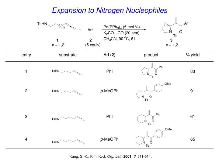 Expansion to Nitrogen Nucleophiles