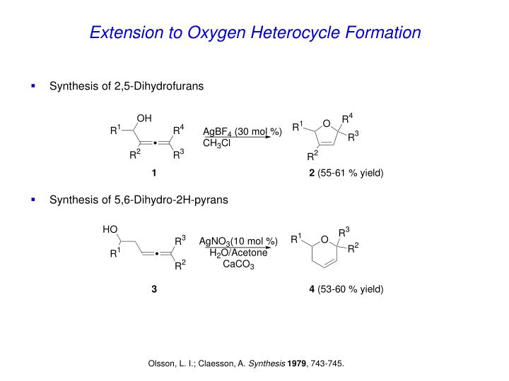 Extension to Oxygen Heterocycle Formation
