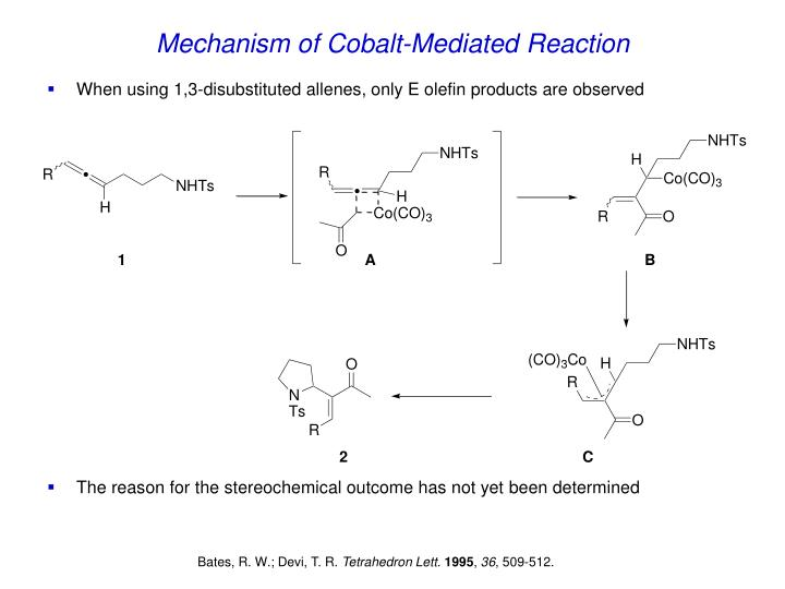 Mechanism of Cobalt-Mediated Reaction
