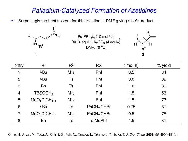 Palladium-Catalyzed Formation of Azetidines