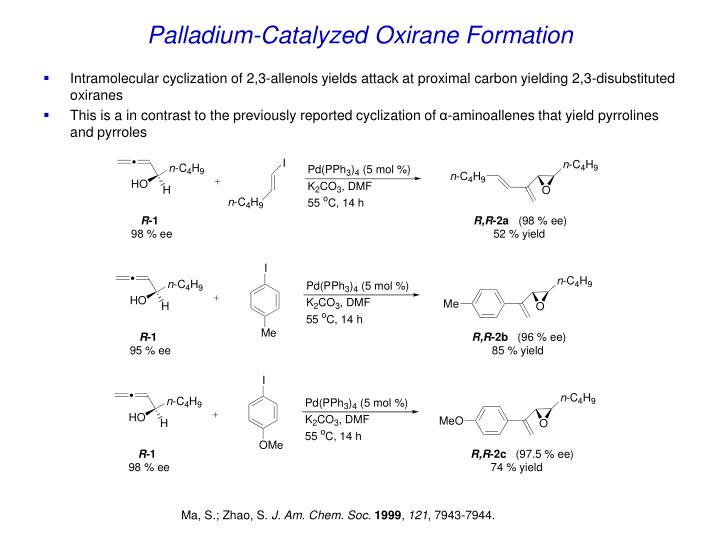 Palladium-Catalyzed Oxirane Formation