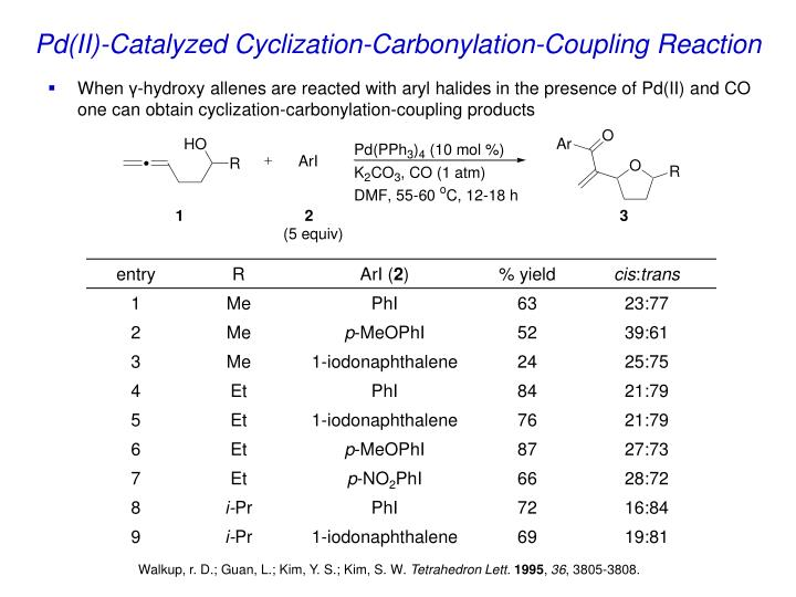 Pd(II)-Catalyzed Cyclization-Carbonylation-Coupling Reaction