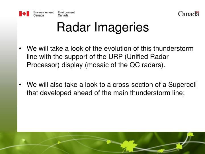 Radar Imageries