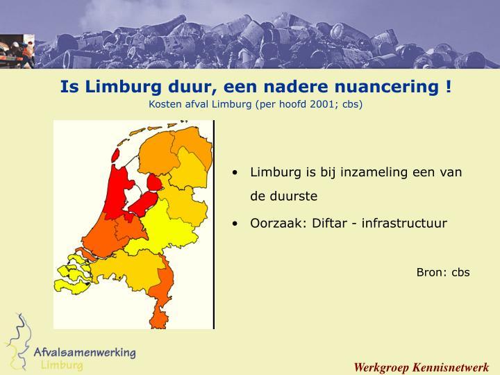 Is Limburg duur, een nadere nuancering !
