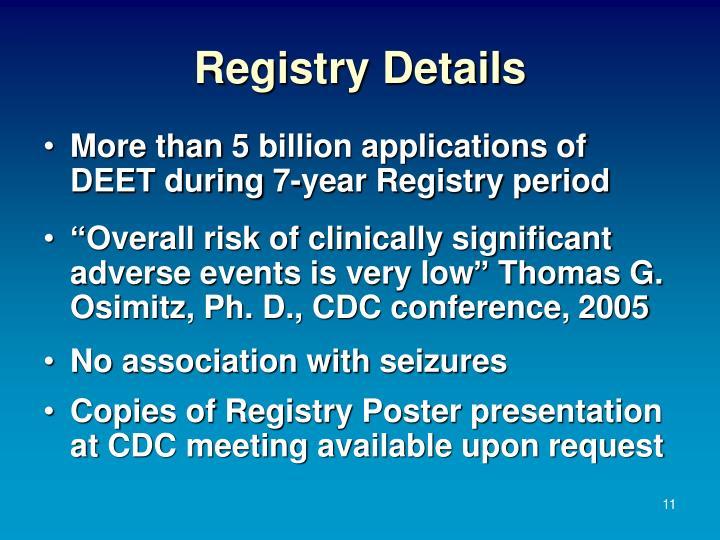 Registry Details