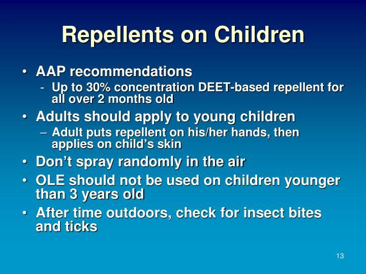 Repellents on Children