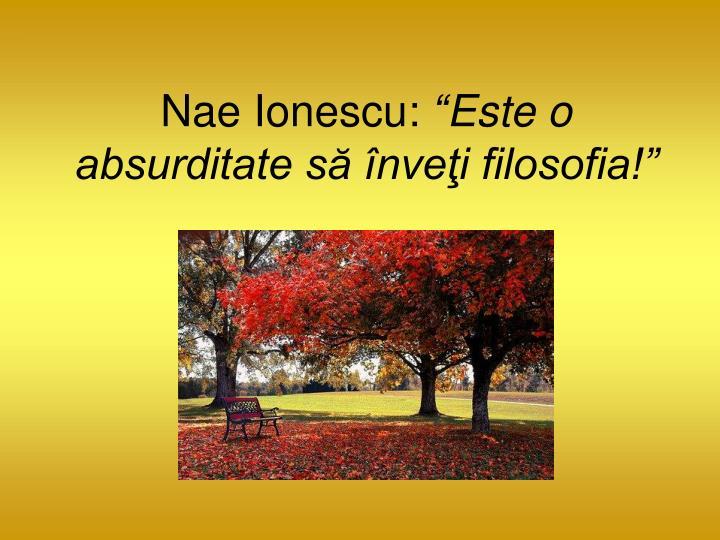 Nae Ionescu: