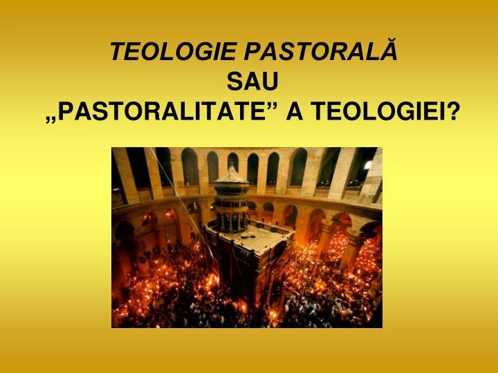 TEOLOGIE PASTORAL