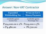 answer non vat contractor