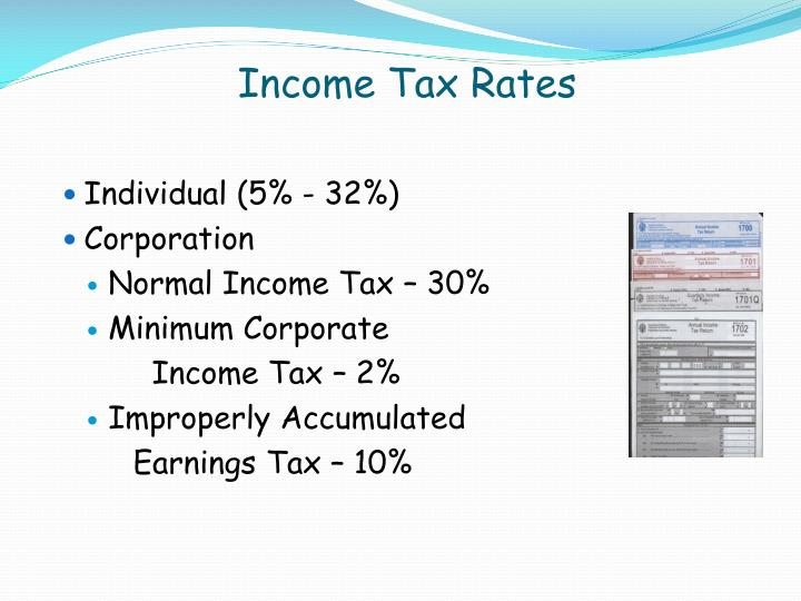 Income Tax Rates
