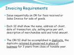invoicing requirements