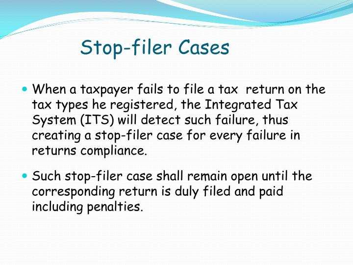 Stop-filer Cases