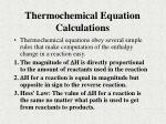 thermochemical equation calculations