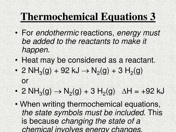 Thermochemical Equations 3