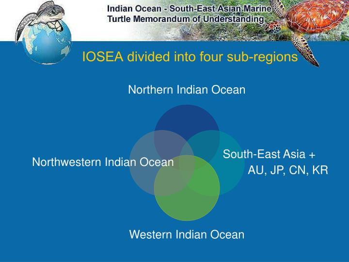 IOSEA divided into four sub-regions