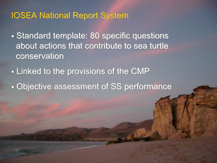 IOSEA National Report System