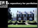 a repository for portfolios