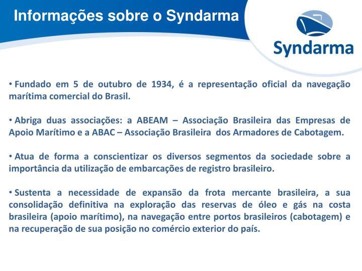 Informações sobre o Syndarma