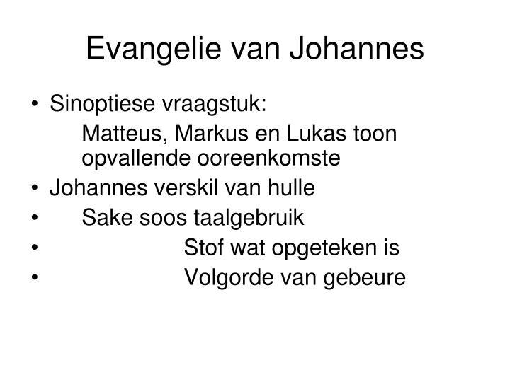 Evangelie van Johannes