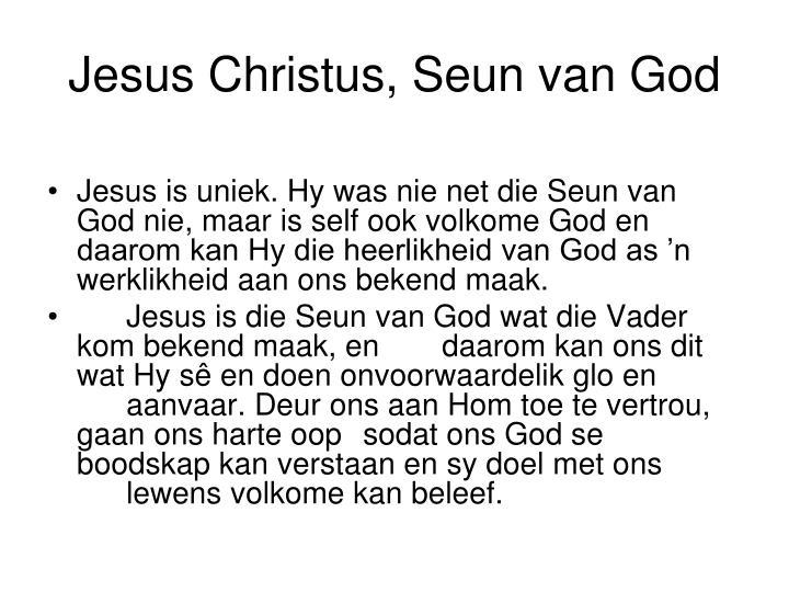 Jesus Christus, Seun van God