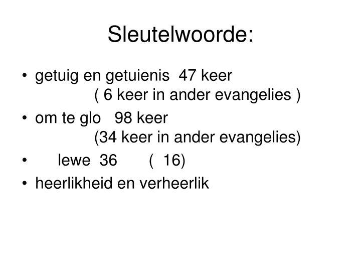 Sleutelwoorde: