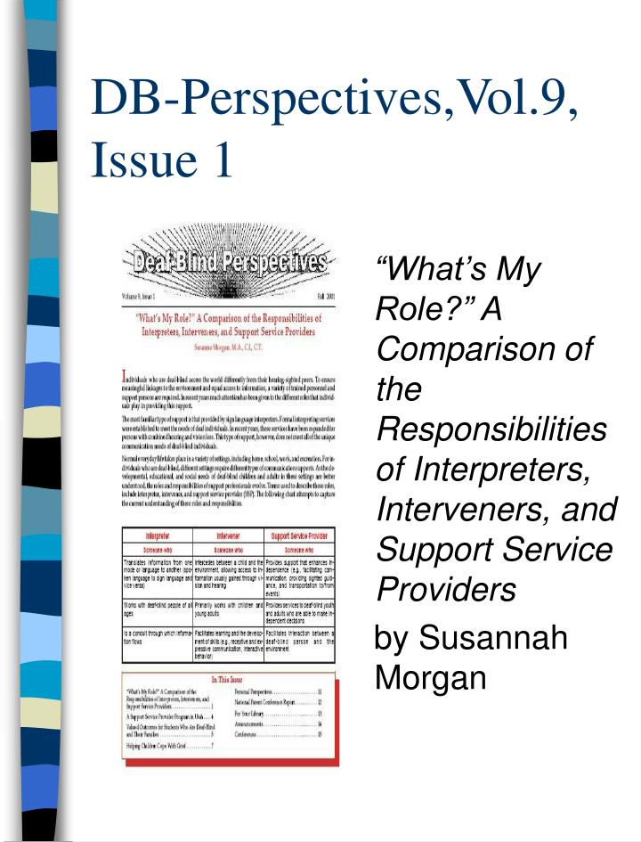 DB-Perspectives,Vol.9, Issue 1