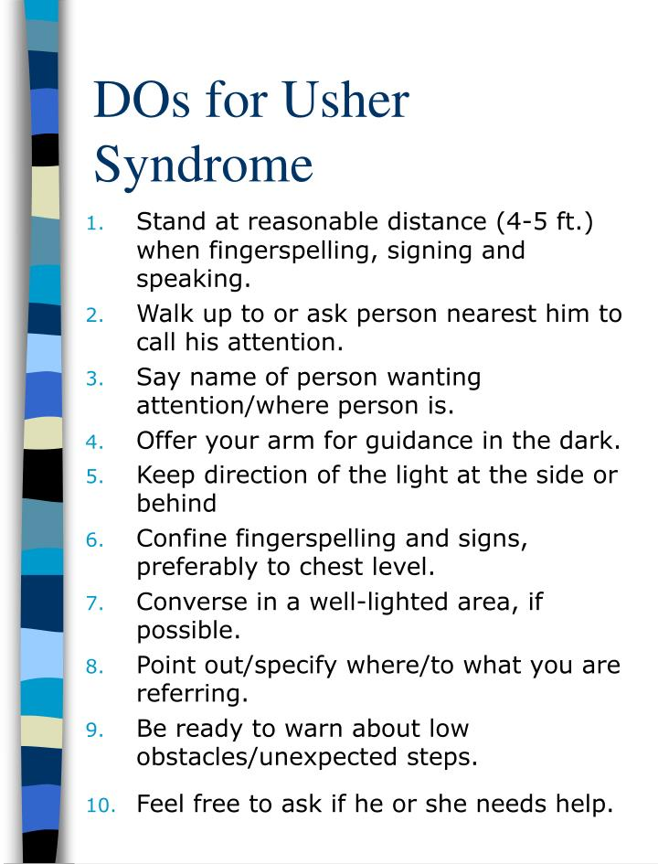 DOs for Usher Syndrome