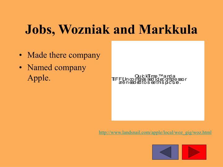 Jobs, Wozniak and Markkula