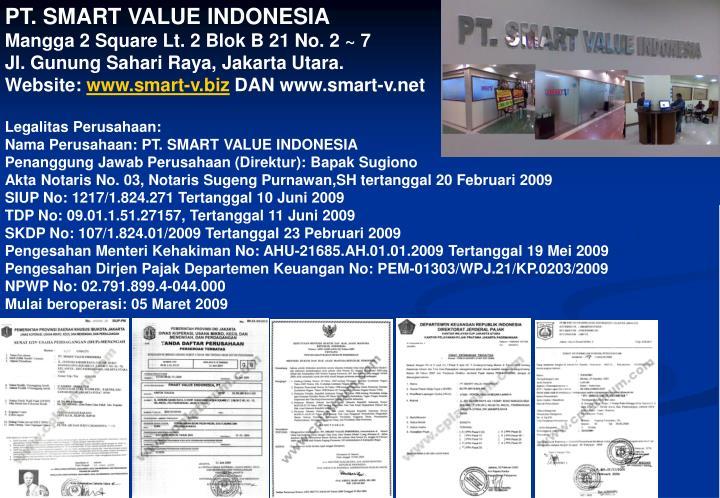 PT. SMART VALUE INDONESIA