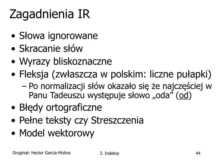 Zagadnienia IR