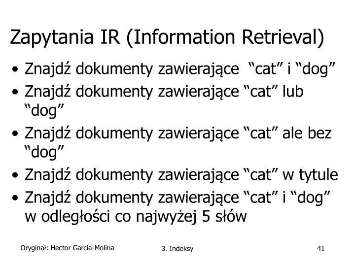 Zapytania IR (Information Retrieval)
