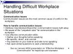 handling difficult workplace situations1