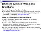 handling difficult workplace situations10