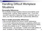 handling difficult workplace situations2