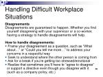 handling difficult workplace situations3