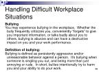 handling difficult workplace situations5