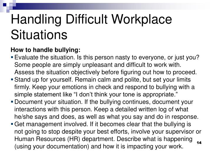 How to handle bullying: