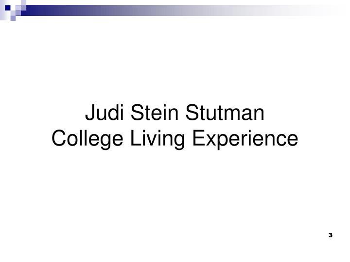 Judi Stein Stutman