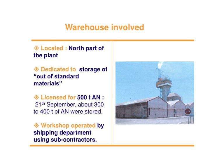 Warehouse involved