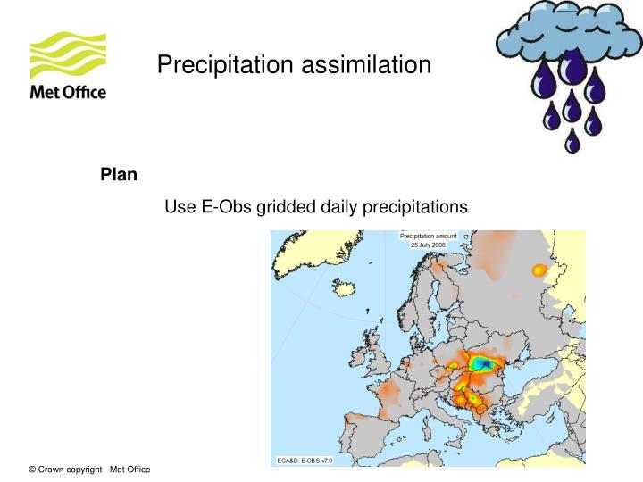 Precipitation assimilation