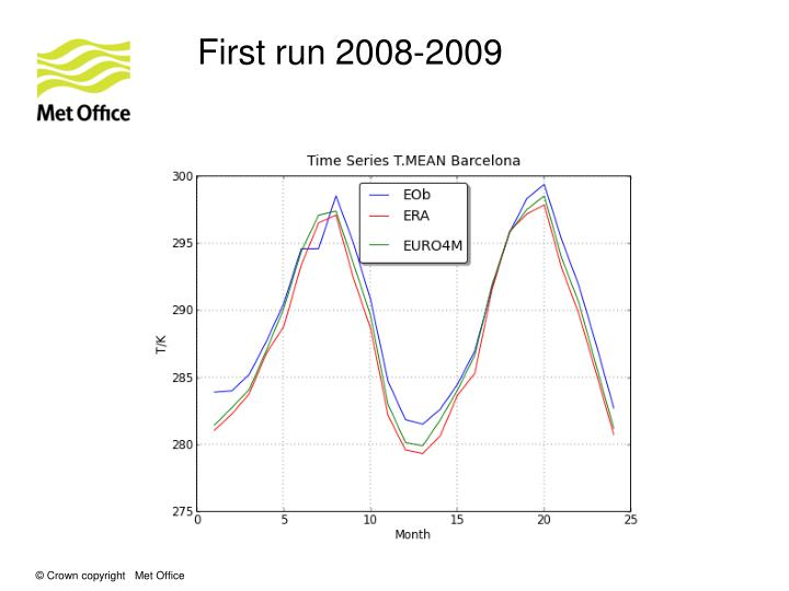 First run 2008-2009