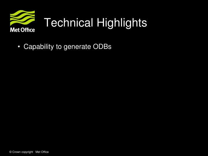Technical Highlights