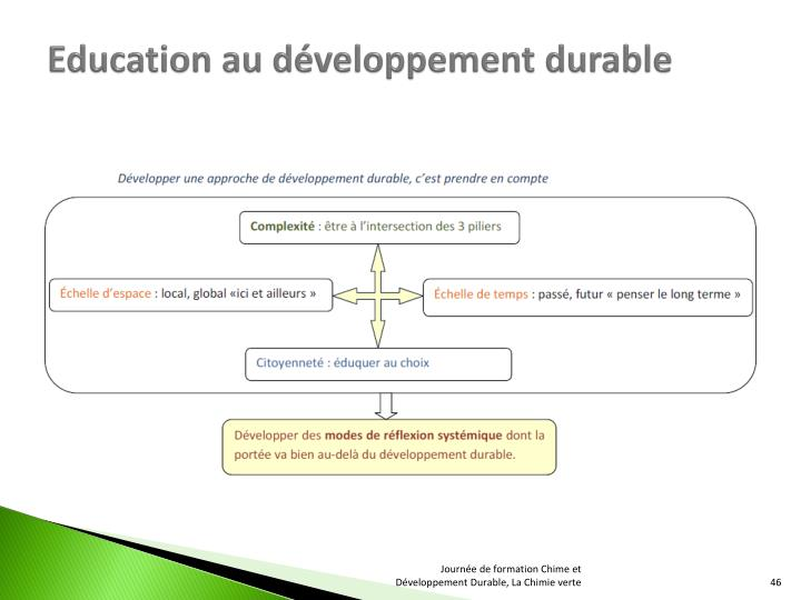 Education au développement durable