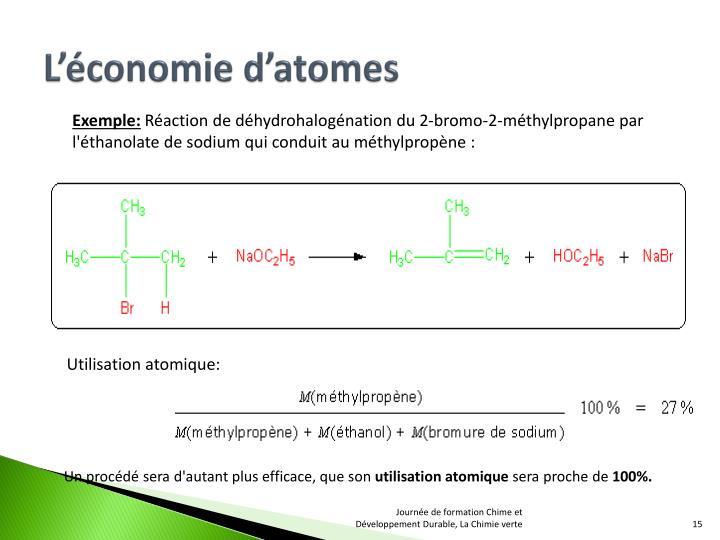 L'économie d'atomes