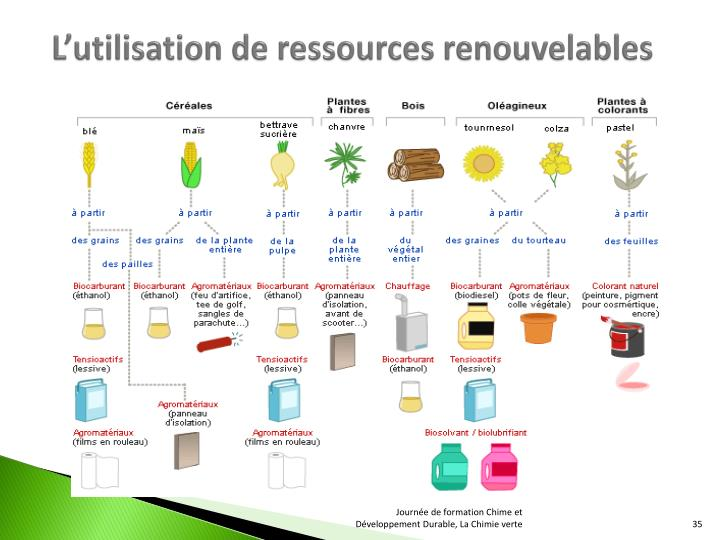 L'utilisation de ressources renouvelables