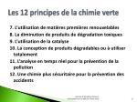 les 12 principes de la chimie verte1