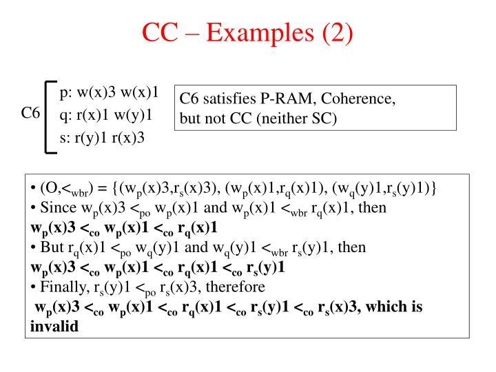 CC – Examples (2)