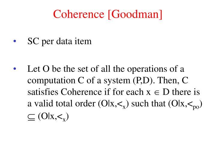 Coherence [Goodman]
