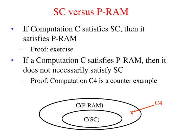 SC versus P-RAM